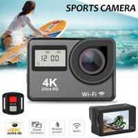 Wholesale waterproof wi fi camera for sale - Group buy H23RT Sports Action Camera K Ultra HD Dual Screen Wi Fi Control Waterproof Anti Shaking For Hiking Skiing Riding Outdoors