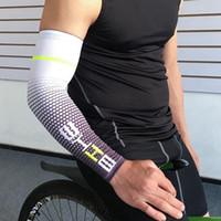 manchettes couvre achat en gros de-Cool Hommes Vélo Courir Vélo Manches UV Protection Du Soleil Manchette Couverture Bras Manches Vélo Sport Manchettes Manches LJJZ567