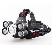 faros led recargables al por mayor-Recargable 18000lm 5 led Faros con zoom ZOOM faro Lámpara de caza pesca Bicicleta luz + Coche AC / Cargador