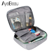 Wholesale beauty vanity cases resale online - Wash Vanity Toiletry Kit Travel Necessaire Make Up Necessaries Makeup Cosmetic Bag Organizer For Women Beauty Case Pouch