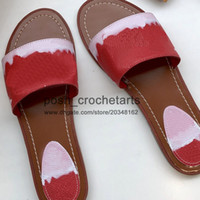 Wholesale Fashion Designer Summer Slides for Sale Tie Dye Print Sandals Slides with Box Designer s Pastel Sandals for Sale