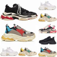 Wholesale fashion running shoes for women for sale - Group buy 2019 Fashion Paris FW Triple S Sneaker Triple S Casual Luxury Dad Designer Shoes for Men s Women Black Sports Tennis Running Shoe