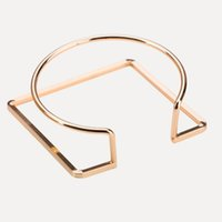 круглый квадратный браслет оптовых-designer jewlery U shape bracelets circle round square open cuff bracelets for women hot fashion wholesale