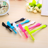 Wholesale powerbank for laptops for sale - Group buy Cute Portable Flexible Mini USB Fan Bendable removable USB Gadgets Low power for Powerbank for PC for laptop
