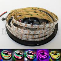 led bande individuelle achat en gros de-Bande de lumière de bande flexible de lumière de bande de pixel de 5V WS2812B IC 5050 RVB LED