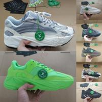 koşu koşucuları toptan satış-Kanye West 700 Dalga Koşucu Koşu Ayakkabıları Womens Için 700 s V2 Statik Spor Sneakers Leylak Katı Gri Lüks Tasarımcı Ayakkabı Boyutu 36-46
