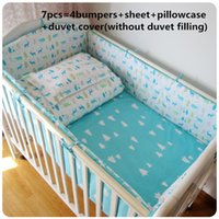 Wholesale red printed curtains for sale - Group buy Promotion baby bedding set cotton curtain crib bumper baby cot sets bed cm
