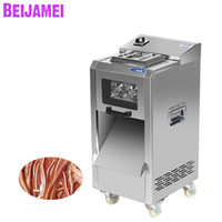 Wholesale automatic slicer resale online - BEIJAMEI W electric commercial meat slicer kg h sliced shred meat machine automatic meat cutting slicing