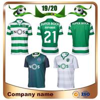 uniforme de fútbol deportivo al por mayor-2019 Sporting Lisbon Camisetas de fútbol 19/20 visitante verde COATES ACUNA RAPHINHA Camisetas de fútbol Lisbon DOST PHELLYPE 3rd Uniformes de fútbol