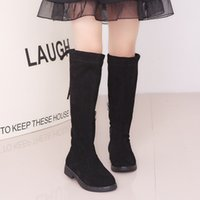 2020 Children Brand Over The Knee Boot Kids Solid Color Boots Girls Luxury Flat Shoes Girls Designer Jackboot Spring Fashion