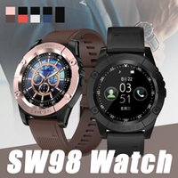Wholesale used display for sale - Group buy Smart Watch SW98 Bluetooth Wireless Smartwatches with SIM Card Slot Camera HD Display for Android IOS Universal Cellphones Relógio Inteligen