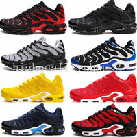Wholesale lightweight running shoes for men resale online - Running Shoes For Men Lightweight Breathable Blue m821 White Black Athletic Outdoor Sneakers Tn Sports Shoes Eur