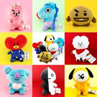 natürliche kissen-füllung groihandel-Neue nette Karikatur-Spielzeug Gefüllte BTS Plüsch-Puppe-Spielzeug BT21 Bangtan Boys K-Pop-Armee Chimmy Geschenke Mode