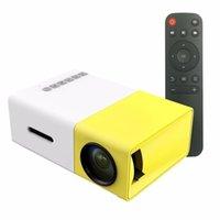 ingrosso proiettori di qualità-YG300 LED Proiettore portatile 400-600LM 3.5mm Audio 320x240 Pixel YG-300 HDMI USB Mini proiettore Home Media Player Alta qualità