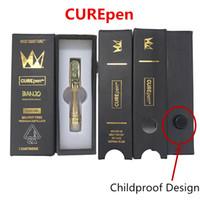 k1 elektronische zigarette großhandel-West Coast Cure Vape Pen Cartridges 0,8 ml 1,0 ml CurePEN Leer Vapor Keramik Coil Gold Tip Carts Glaswanne Kindergesicherte Flavour Verpackung