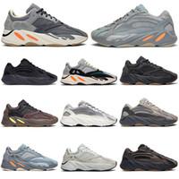 imanes de pvc al por mayor-Adidas yeezy boost 700 V2 Magnet Inertia Kanye West Zapatillas de running Hombre Mujer Vanta Utility Black Mauve Runner Zapatillas de deporte para hombre Zapatillas de deporte