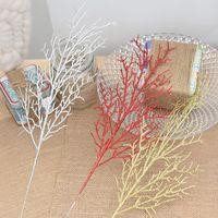 salon de fleurs artificielles achat en gros de-Eco-Friendly 10pcs / Lot 13 * 40cm Feuilles fleur d'arbre de Noël Couronne Branche artificielle Brindilles Unique Home Living Artisanat Room Decor