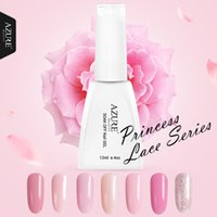 Wholesale white rose princess resale online - Beauty Princess Series Colors UV Gel Polish Pink Gel Soak off Led Lamp Nail Polish Varnish For Long lasting