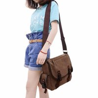Wholesale big button cell phones for sale - Group buy 2019 New Canvas Messenger Bags Men s Solid Cover Button Casual School Shoulder Bags Male Big Capacity Cross Body Bag Fab