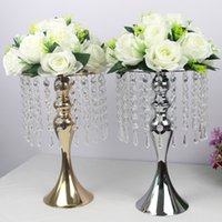Wholesale decoration vases for weddings tables for sale - Group buy Exquisite Flower Vase Twist Shape Stand Golden Silver Wedding Table Centerpiece Road Lead For Christmas Home Decor