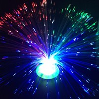 Wholesale New Strange Fiber Optic Filament Lamp Seven Color Plate Fiber Optic Flower Flashing Star Night Light