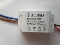 mevcut aydınlatma toptan satış-1-3 W Tavan Işık Sürücü LED 3 W Sabit Akım Sürücüsü IC Çip ile AC 85-265 V 100-240 V 300mA LED Sürücü Güç Kaynağı