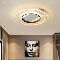 siyah led panel ışık toptan satış-Modern LED Tavan Lambası Yatak Odası Mutfak Yüzey Montaj için Gömme Panel Işık siyah çerçeve ile beyaz aydınlatma iç aydınlatma armatürleri