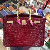 sh taschen großhandel-Die neuesten 00132 Damen Handtasche mittelgroße Geldbörse strapazierfähiges Leder Krokodilhaut Muster Rindsleder Mode schöne Ledertasche Mode sh