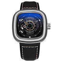 relogios mecânicos quadrados venda por atacado-AAA Marca de Luxo Mens Relógios Único Mostrador Quadrado Mecânico Automático Relógios De Pulso Reloj Hombre Homem Relógio de Negócios
