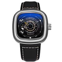 квадратные мужские часы механические оптовых-AAA люксовый бренд мужские часы уникальный квадратный циферблат автоматические механические наручные часы Reloj Hombre бизнес часы человек