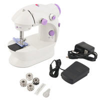 Wholesale household mini sewing machine resale online - Multifunction Electric Mini Sewing Machine Household Desktop With LED New worldwide store