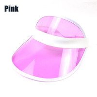 Wholesale hat sunscreen for sale - Group buy Sunscreen Caps Many Colour Trendy Transparent Outdoors Cap Summer Vacant Roof Candy Colour Hat Men Women Hot Selling yh p1
