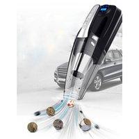 mini display luzes venda por atacado-Mini Aspirador de Carro Auto Aspirador de Pó Portátil Para Carro Display Digital Portátil 4-em-1 12 V Com Luz LED