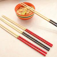 5 Pairs Chopsticks Classic Bamboo Wood Assorted Chinese dragon pattern Gift Set