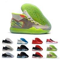 chaussures de basket vert fluorescent achat en gros de-Nouvelle version Kevin Durant XII KD 12 Fluorescent Green Sports Chaussures de basket-ball de bonne qualité Mens Designer Sport Sneakers
