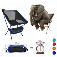 Wholesale chair lights resale online - Portable Seat Lightweight Fishing Chair Fast Russia Stock Camping Stool Folding Outdoor Furniture Portable Ultra Light Chair