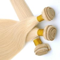 Wholesale 6a straight virgin human hair for sale - Group buy Platinum Color a Peruvian Straight Virgin Hair Bundles Human Hair Extensions Inchs Double Hair Weave Bundles