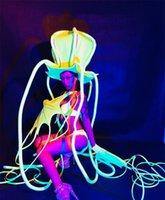 polvo de festa venda por atacado-Fluorescente Octopus Sexy Lady Dance Suit Palco Desempenho Roupas Boate Bar Festa Evento Traje de Salão de Baile de Dança