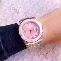 relógio de quartzo quartzo venda por atacado-Crown relogio feminino Rosa Relógios mulheres marca das senhoras do desenhador elegante vestido de couro de moda assistir Red mostrador de relógio de quartzo Stainless aço
