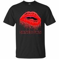 ingrosso tee labbra-Lips Shinedown colori nero, blu marino T shirt manica corta da uomo il formato S-3XL formato allentato tee shirt