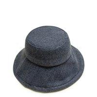 фетровые шляпы оптовых-2019 осень и зима Верхнее качество шерсти войлока Непромоканцы шапки для мужчин Женщины на открытом воздухе Blank Felt Bucket Hat Cap 55-59cm