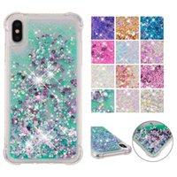 Wholesale star huawei for sale - Group buy Glitter Star Love Heart Sequins Phone Case For iphone XS MAX XR s plus Shockproof Liquid Quicksand Case Cover for iPod Touch