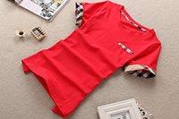 camiseta de xadrez venda por atacado-Mulheres Marca T-shirt moda verão xadrez de manga curta t-shirts Projeto clássico Casual T Shirt venda tamanho quente s-5XL