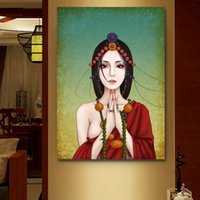 Wholesale buddha paintings living room for sale - Group buy Buddha Canvas Print Painting Wall Art Pictures For Living Room Home Decor Poster and Prints No Frame