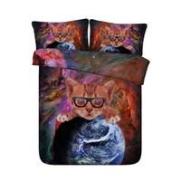 zwillingsstars groihandel-Twin Bettbezug Kids Sterne Teen Boys 3 Stück Bettwäsche-Abdeckung mit 2 Kissen Shams Cat Bettwäsche-Sets für Mädchen Voll mit Reißverschluss