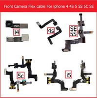 sensor de rosto para iphone venda por atacado-Frente enfrentando módulo de câmera cabo flex para iphone 4 4s 5 5s 5c se pequena luz da câmera sensor proximit cabo flex com microfone