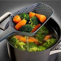 ingrosso plastica del colino della cucina-Cucchiai per zuppa di colino di nuovo stile Cucchiaio di plastica in plastica di plastica Paletta Filtro per zuppa di colino di grandi dimensioni Forniture da cucina