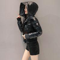 ingrosso giacche sottili imbottite per le donne-2019 nuove donne cappotto invernale parka rivestimento sottile lucida corta in cotone cappotto delle donne spessa imbottitura donne del rivestimento modo della tuta sportiva signore