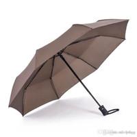 ingrosso ombrelli automatici-Ombrello multi-automatico multi colori durevole manico lungo Ombrello da lavoro triplo personalizzato creativo design creativo ombrello BH0053