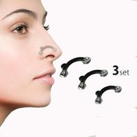 massagem nasal venda por atacado-Nariz para cima de elevação shaping clip clipper shaper ponte alisamento beleza clipe de nariz ferramenta de massagem corrector 3 tamanhos sem dor